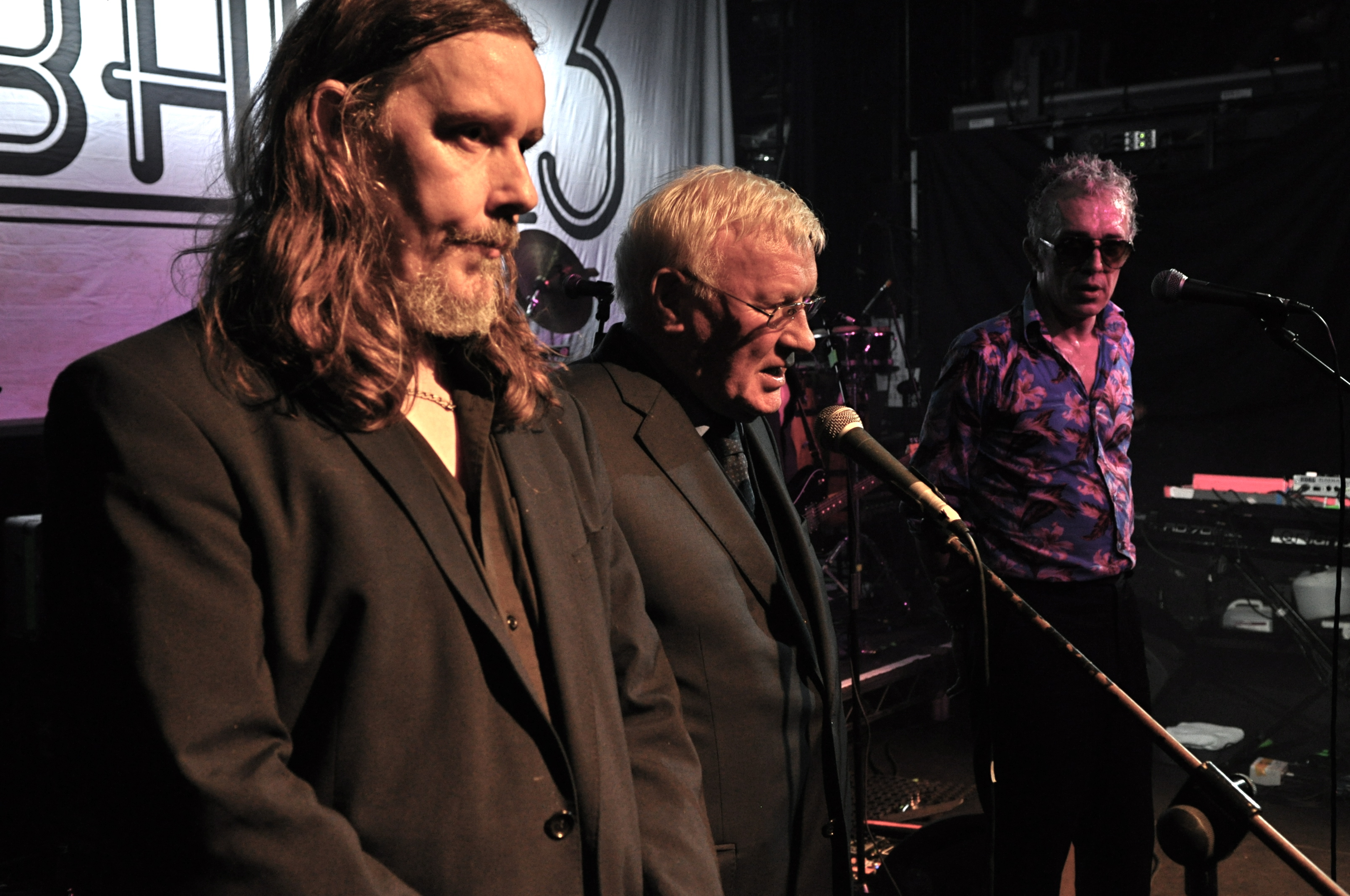 Sean Garland on stage with the Alabama 3