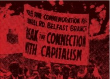 Banner of the Republican Congress, reading Break the Connection with Capitalism