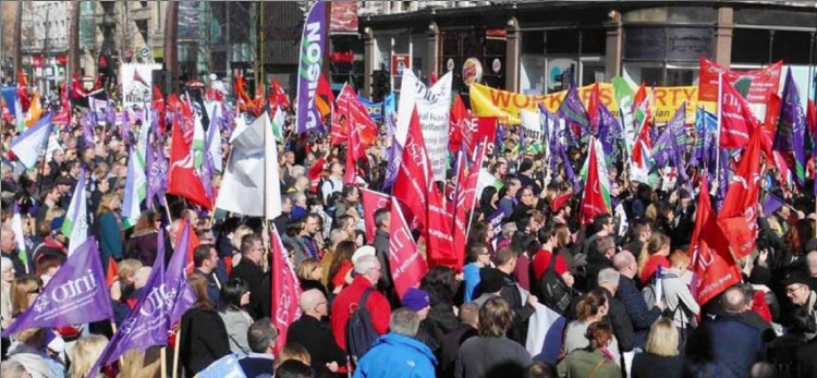 Rally of Northern Ireland trade unions
