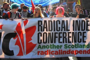 Radical Independence Campaign marching
