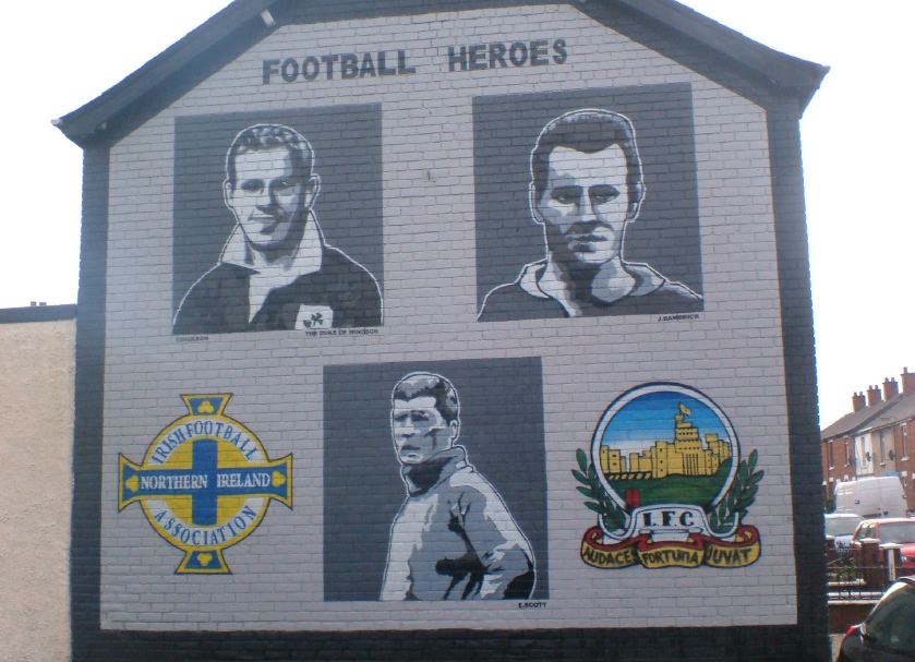 Northern Ireland and Linfield FC community mural, Belfast