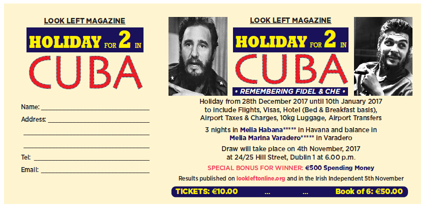 Ticket for Cuba Holiday Draw