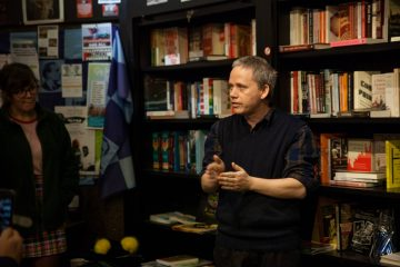 Dr Conor McCabe speaks at the launch of 'Money' in Connolly Books in November. Credit: Donal Higgins.